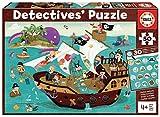 Educa Detectives Piratas. Puzzle Infantil de 50 Piezas. Móntalo y Busca los Objetos escondidos. +4 años. Ref. 18896, Multicolor