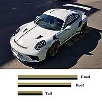 車のステッカー 繊細 デカール フルボディ カー サイド ステッカーFor Porsche 911 718 Boxster Carrera