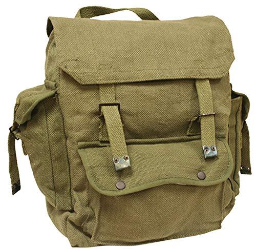Highlander Mens Combat Military Rucksack Travel Back Pack Canvas Surplus Shoulder Bag Haversack Green