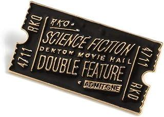 Billete de película Pines de esmalte Tablero de escena de película Rocky Horror Ciencia Ficción Insignia roja y negra Broc...