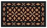 De'Carpet Felpudo Entrada Casa Original Divertido Moderno Flocado Étnico 40x70 (Marrón)