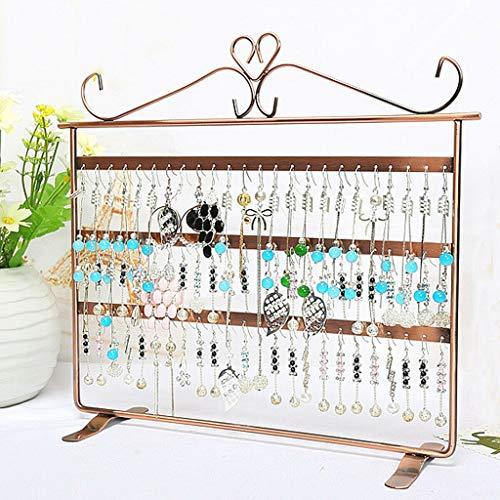 Fasclot 72 Holes Earring Jewelry Necklace Display Rack Metal Stand Holder Organizer