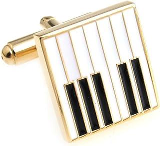 MRCUFF Piano Keys Music Pair Cufflinks in a Presentation Gif