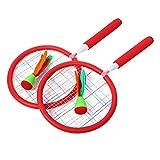 Jacksking Federballschläger, Sicherheit Sporttraining Tool Spielzeug Trainingspraxis für Kinder Kinder Kleinkind (rot)