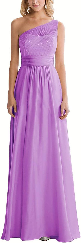 JAEDEN Bridesmaid Dress Long Prom Dresses Chiffon Formal Evening Gowns One Shoulder Wedding Party Dress Bridesmaid Dresses