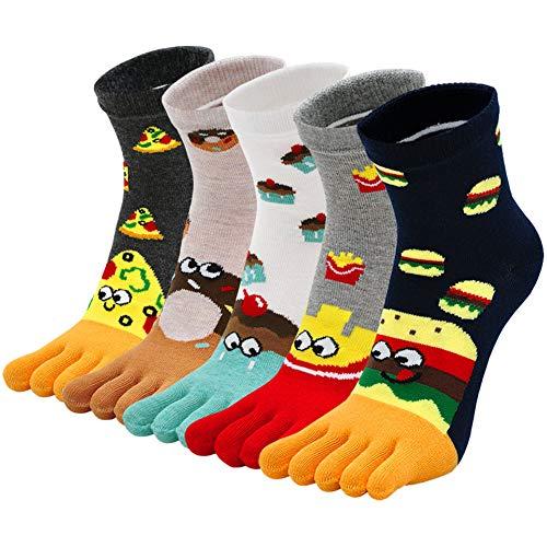 ZAKASA Calcetines de Algodón Mujer Lindos Calcetines de Animales Lindos calcetines térmicos Adulto para Invierno Cinco dedos separados