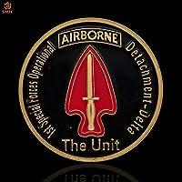 米国第1特殊部隊空中戦闘機陸軍金メッキチャレンジ記念コインアメリカンイーグルコイングッズ