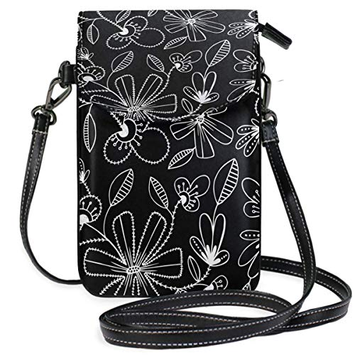 XCNGG Telefontasche Flower Plant Hyacinth Cell Phone Purse Crossbody Bag Pouch Shoulder Bags Wallet for women Girls Travel Wedding