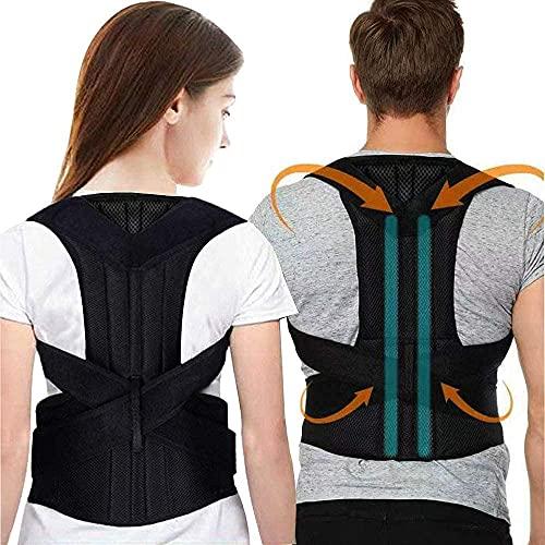 Back Brace,Posture Corrector for Men and Women Back Lumbar Support Adjustable Posture Corrector for Improve Posture and Back Pain Relief with Adjustable Soft Elastic Shoulder Straps
