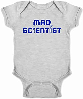 Pop Threads Mad Scientist Funny Retro Geeky Nerdy Costume Infant Bodysuit