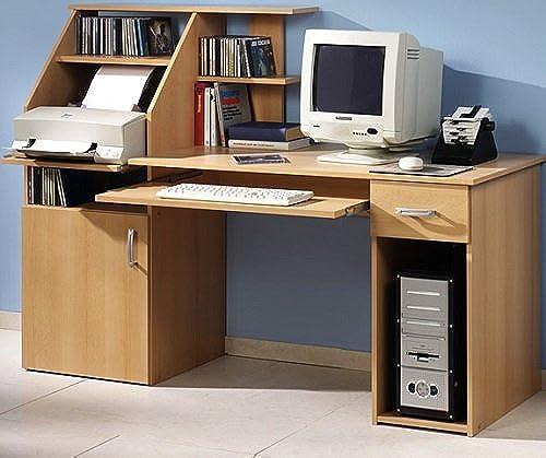 Schreibtisch bv-Grünrieb PC-Tisch Buche Bürotisch Druckerablage Buche - (1481)