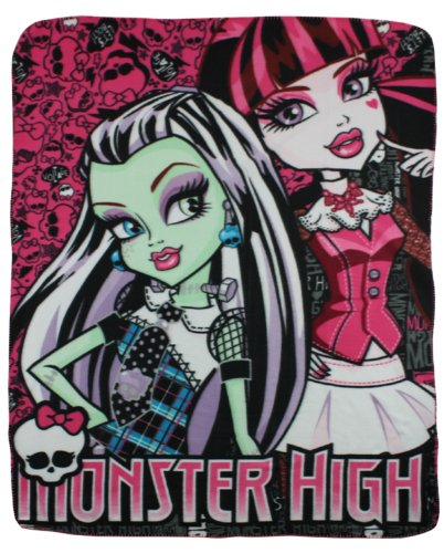 Monster High Fleece-decke, Kinder Tagesdecke Monster High Frankie Stein Kuscheldecke EDEL Duo 2013