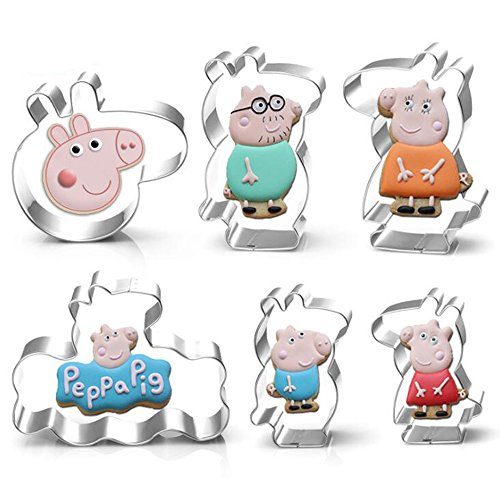 Cartoon Pig House Member Cookie Cutter- Stainless Steel