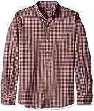 Van Heusen Flex Non Iron Stretch Long Sleeve Shirt Camisa con Cuello Abotonado, Red Rubia Check, M para Hombre