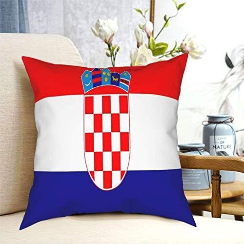 SUN DANCE Fundas de cojín cuadradas de la bandera de Croacia, decoración del hogar, funda de almohada cuadrada para sofá, dormitorio, coche, 50,8 x 50,8 cm
