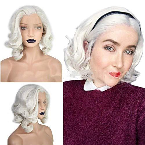 Perruques pour femme, cheveux courts et bouclés en fibre chimique, pour le quotidien