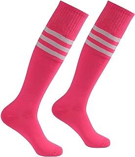 Soccer Socks, Atrest Unisex Knee High Stripe Sport Long Tube Socks 2-10 Pairs