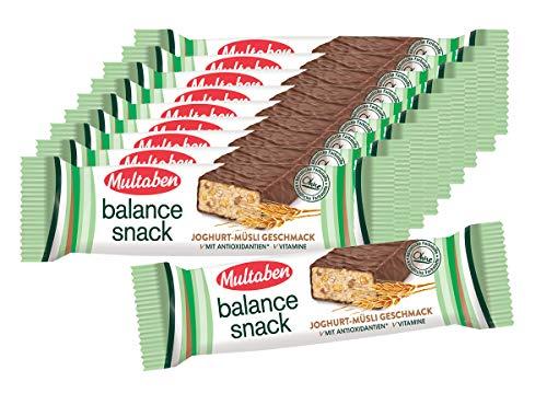 10er SET Multaben Balance Snack Joghurt-Müsli 38 g / Wellnessriegel