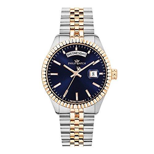 PHILIP WATCH Herren Analog Quarz Uhr mit Edelstahl Armband R8253597032