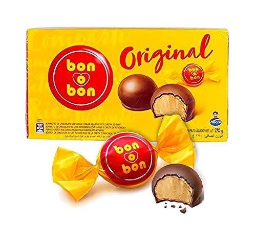 Schokoladenbonbon mit knuspriger Waffel und Erdnusscreme-Füllung, Argentinien, Box 270g - ARCOR bon-o-bon Original - Bombones con Crema de Maní, 270g