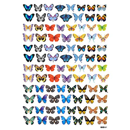90Pcs/Sheet 3D Colorful Butterfly Heat Shrink Handmade Resin Nail Art Decoration By A-LAOWENG