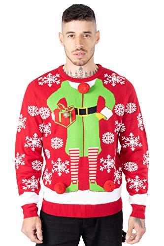 NOROZE Jersey de Navidad para hombre con diseño de Papá Noel a el pub reno, unisex