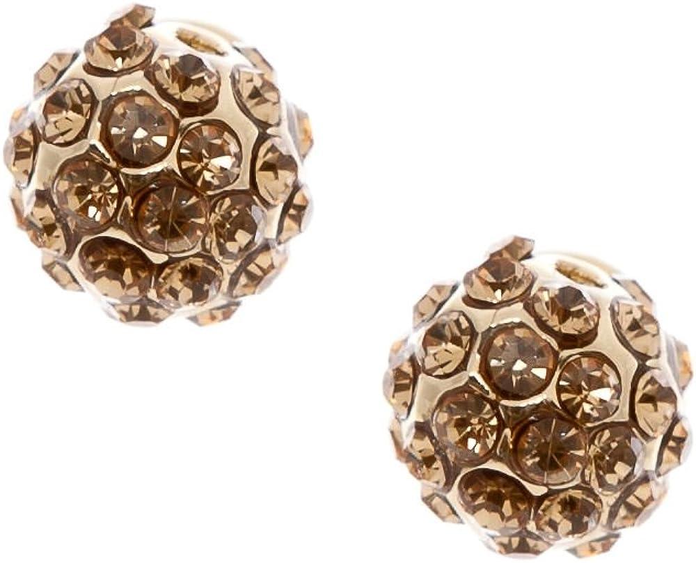 Gold Light Colorado Topaz Ball Earring