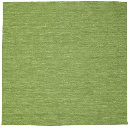 RugVista Kelim Loom - grün Teppich 300x300 Orientalischer, Quadratisch Teppich