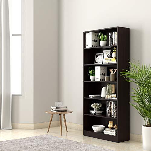 Amazon Brand - Solimo Scarlett Engineered Wood Bookcase (Wenge)