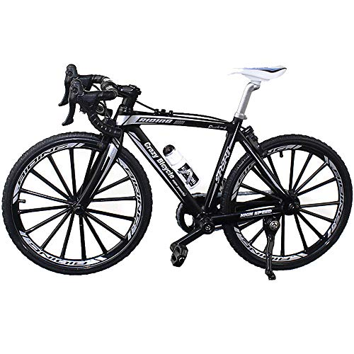 BicycleCrazy Fahrrad Miniatur 1:10 (Rennrad schwarz)