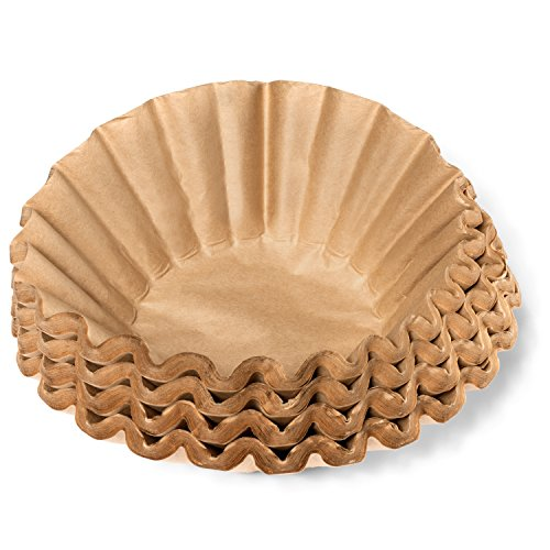 Coffee Filters - Natural Unbleached Brown Biodegradable - Large Basket - 9.75' Flattened Diameter - 4.5' Diameter Base - by California Containers (200 Count)