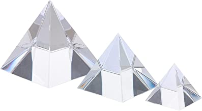 Baluue 3St Optisk Crystal Photography Prism Triangulär Optical Pyramid För Vetenskapsfysik Och Undervisning Foto Fotografi...