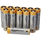 Amazon Basics Lot de 12 piles alcalines Type AA 1,5 V 2875 mAh (design variable)