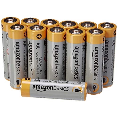 AmazonBasics - Pilas alcalinas AA 'Performance' (Paquete de 12) - Diseño variable