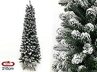 L'albero di natale MegaShopitalia artificiale riproduce fedelmente l'effetto di un vero albero in versione Slim senza danneggiare la natura. E' realizzato con materiali di alta qualità e ignifughi ad ha un elevato numero di rami orientabili, i rami s...