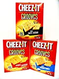 Cheez-It, Grooves, VARIETY 6 PACK: 2 Boxes of ZESTY CHEDDAR RANCH, 2 Boxes of SHARP WHITE CHEDDAR, 2 Boxes of ORIGINAL CHEDDAR