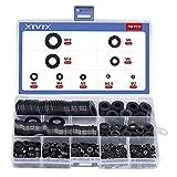 XTVTX 700PCS Arandelas de nailon negras Kit surtido de juntas de nailon Arandelas espaciadoras de sellado métrico para (M2 /M2.5 /M3 /M4 /M5 /M6 /M8 /M10 /M12)