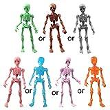 Yeahii Cute Fashion Mr. Bones Pose Skeleton Simulated Skull Model Mini Figure Kids Children Toys Collectible Gifts