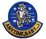 f14 patch - F-14 Tomcat Anytime Baby.! Embroidery Patch Military Tactical Clothing Accessory Backpack Armband Sticker Gift Patch Decorative Patch Embroidered Patch