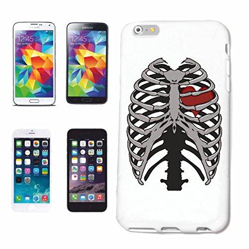 Reifen-Markt Hard Cover - Funda para teléfono móvil Compatible con Apple iPhone 5 / 5S Marco DE Mama con BALANCINES CORAZÓN Motorista gothics Esqueleto Correa acan