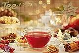 Tee-Adventskalender - Teekalender, Adventskalender, 25 Teekompositionen für eine genussvolle Adventszeit - 56 x 38 cm: Adventskalender Weihnachtskalender