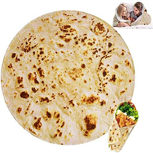 GZGZADMC Burritos - Manta Tortilla para picnic, manta suave y de peluche para oficina, casa, dormitorio, sofá, camping, viaje en pleno 180 cm