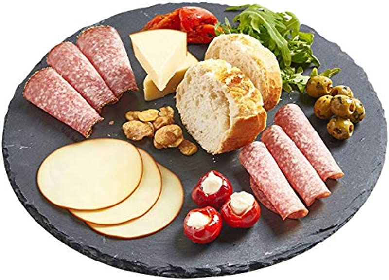 Slate Cheese Boards 7 8 Inch Solid Stone Tray Charcuterie Boards Cheese And Meat Serving Board For Home Restaurant Cafe Use Round