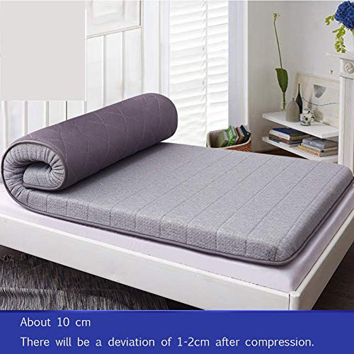 ZXYY opvouwbare mat voor matrassen van tatami, draagbare, anti-slip latex matras, topper voor studenten, slaapkamer-onderlegger voor eenpersoonsbed, slaapkamer-B 90 x 200 cm (35 x 79 inch)