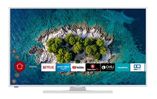HITACHI U43K6100W 109 cm (43 Zoll) Fernseher (4K Ultra HD, HDR10, Dolby Vision HDR, Triple Tuner, Smart TV, Works with Alexa, Bluetooth, PVR-Ready)