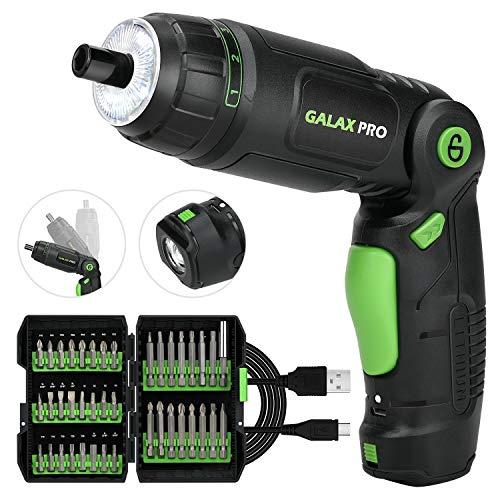 GALAX PRO Atornillador eléctrico, 3,6 V, destornillador eléctrico, ajuste a 3 posiciones,...