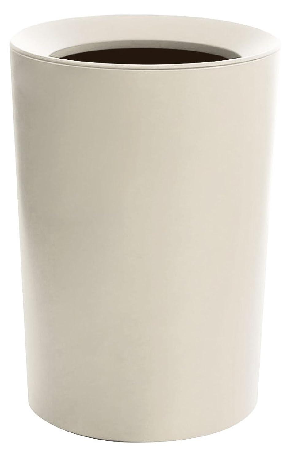 印象的野ウサギわなアスベル フタなしゴミ箱 ホワイト Φ22.2×31.8 ルクレール2重構造くず入CV丸形