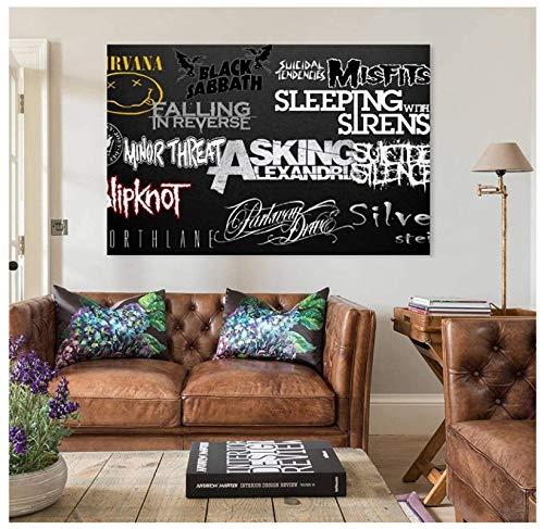 Dark, Metal Music, Nirvana, Falling in Reverse, Parkway Drive, Portada del álbum Póster Imagen Lienzo Pintura Obra de Arte -50x75cm Sin Marco