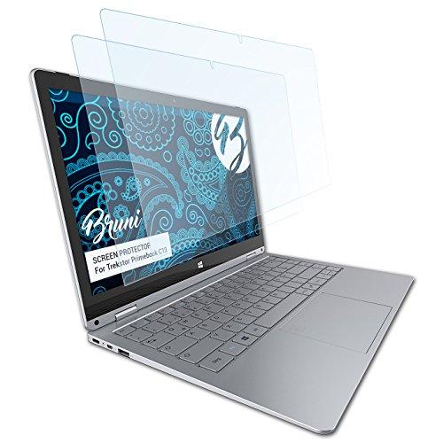 Bruni Schutzfolie kompatibel mit Trekstor Primebook C13 Folie, glasklare Bildschirmschutzfolie (2X)
