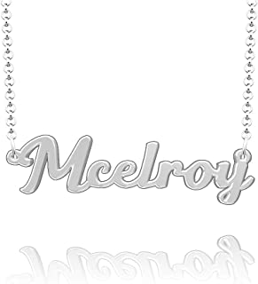 Infinite Memories 925 Sterling Silver Initial Pendant Personalized Necklaces Customized Jewelry
